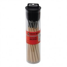 Flux Brushes 25pk Wooden Handle