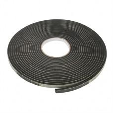 Self-Adhesive EVA Foam Gap Seal 3 - 8mm / 10.5m Black