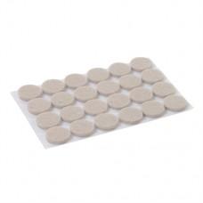 Self Adhesive Felt Pads Protectors 24pk 20mm Round