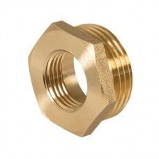 "Brass Hexagon Bush 1"" (Male) x 1/2"" (Female)"