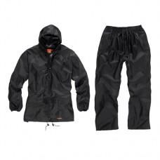 2-Piece Waterproof Suit Black L