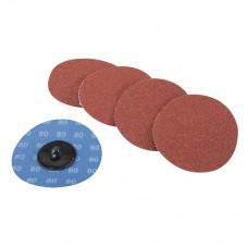 75mm Quick-Change Sanding Discs Set 5 pieces 80 Grit