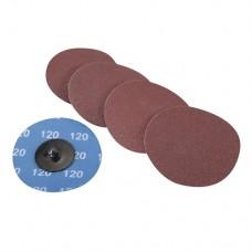 75mm Quick-Change Sanding Discs Set 5 pieces 120 Grit