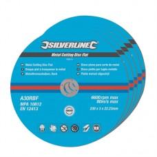 Metal Cutting Discs Flat 5pk 230 x 3 x 22.23mm