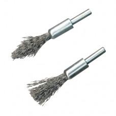 Steel De-Carb Brush Set 2pk 6mm Shank