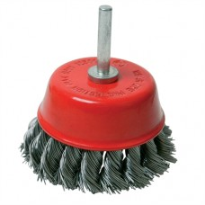 Rotary Steel Twist-Knot Cup Brush 75mm