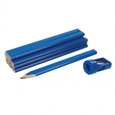 Carpenters Pencils & Sharpener Set 13 pieces 175mm