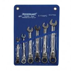 Flexible Head Ratchet Spanner Set 6 pieces 8 - 17mm