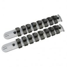 "Socket Storage Rail Set 2 pieces 3/8"""