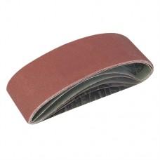 Sanding Belts 75 x 533mm 5 pieces 40, 60, 2 x 80, 120G