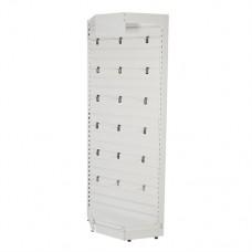 Slatwall Toolbars & Gondola Systems Slatwall Corner Rack 1000 x 400 x 2200mm