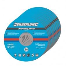 Metal Cutting Discs Flat 10pk 115 x 3 x 22.23mm