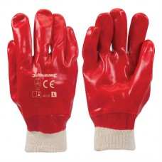 Red PVC Gloves L 9