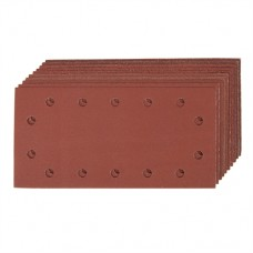 Hook & Loop 1/2 Sheets Punched 10 pieces 2 x 60, 3 x 80, 120, 2 x 240G