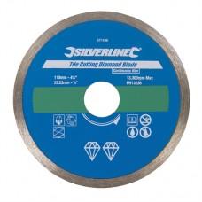 Tile Cutting Diamond Blade 110 x 22.23mm Continuous Rim