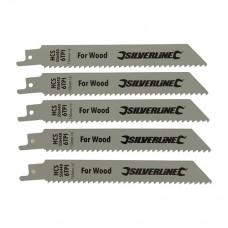 Recip Saw Blades for Wood 5pk HCS - 6tpi - 150mm