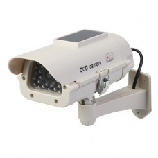 Solar-Powered Dummy CCTV Camera with LED (Solar-Powered)