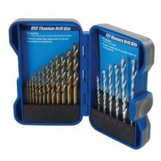 Titanium-Coated HSS & Masonry Drill Bit Set 19 pieces 1 - 9mm