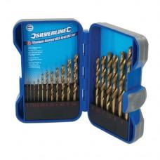 Titanium-Coated HSS Drill Bit Set 17 pieces 1 - 9mm