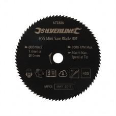 HSS Mini Saw Blade 85mm Dia - 10mm Bore - 80T