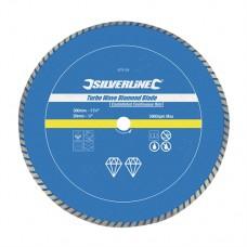 Turbo Wave Diamond Blade 300 x 20mm Castellated Continuous Rim