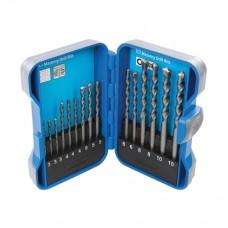 TCT Masonry Drill Bit Set 15 pieces 3 - 10mm