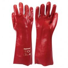 Red PVC Gauntlets L 9