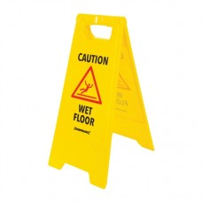 'A' Frame Caution Wet Floor Sign 295 x 610mm English