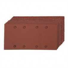 Hook & Loop 1/3 Sheets Punched 10 pieces 2 x 60, 3 x 80, 120, 2 x 240G