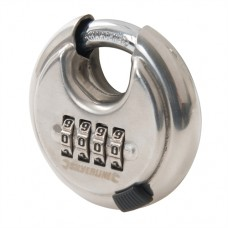 Stainless Steel Combination Disc Padlock 4-Digit 70mm