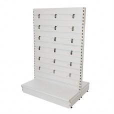 Slatwall Toolbars & Gondola Systems Slatwall Gondola Ext. 1000 x 400 x 1500mm