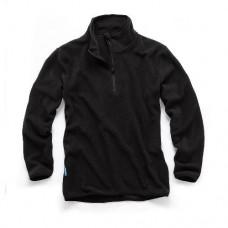 1/4-Zip Fleece Black L