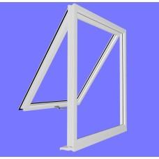 uPVC Full Bottom Opening Window Frame (unglazed)