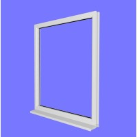 uPVC Fixed Window Frame (unglazed)