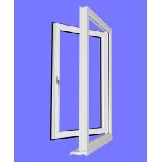 uPVC Side Hung Opening Window Frame (unglazed)
